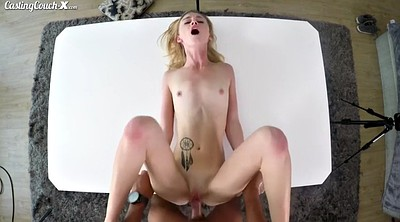 Small tits, Teen casting, Cute blonde, Cumshot on pussy, Blonde slim