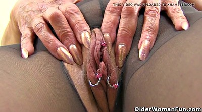 Nylon, Mature nylon, Milf nylon, Pantyhose milf, Mature dildo, English