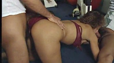 Double anal, Double penetration, Gym