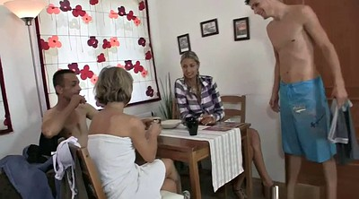 Family, Family sex, Granny threesome, Granny group, Granny big tits