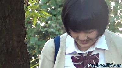 Student, Asian public, Outdoor japanese, Japanese voyeur, Japanese student, Japanese pee