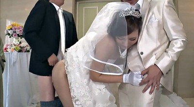 Japanese wife, Bride, Cuckold creampie