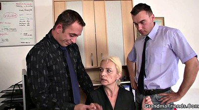 Interview, Old lady, Grannies, Threesome casting