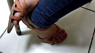 Toes, Classroom, Red, Sandals, Italian amateur