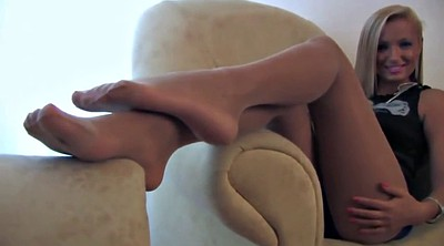 Close up, Pantyhose foot, White pantyhose