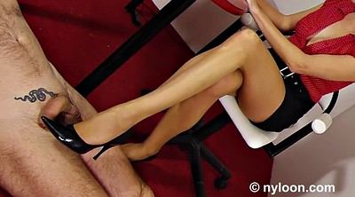 Office, Nylon footjob, Office stocking, Nylon feet, Office feet, Luscious
