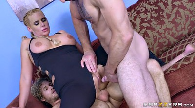 Hairy blonde, Phoenix marie, Pigtail, Busty threesome