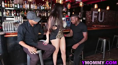 Restaurant, Mercedes, Ebony threesome
