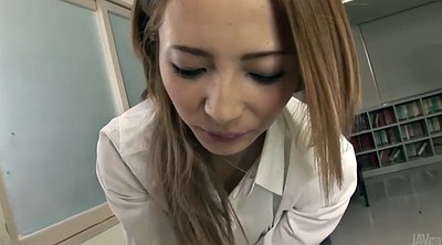 Japanese teacher, Asian handjob, Student