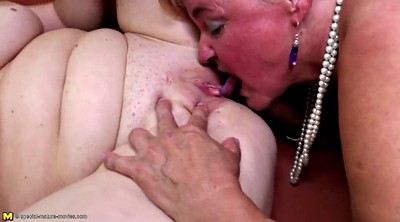 Old and young lesbian, Granny's, Foursome
