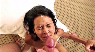 Moms, Mom cum, Mature handjob