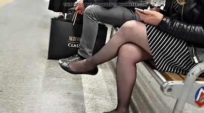 Pantyhose, Black, Touching, Touch, Nylons