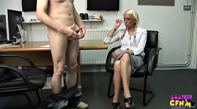 Clothes, Officer, Milf handjob