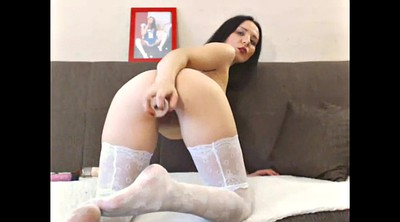 Milf stocking, White, White stockings, Russian stocking, Russian milf