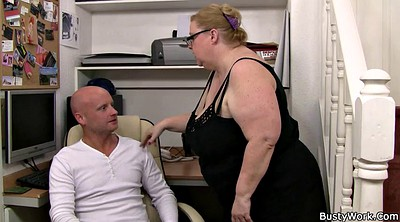 Huge, Huge tits, Fatty, Office sex