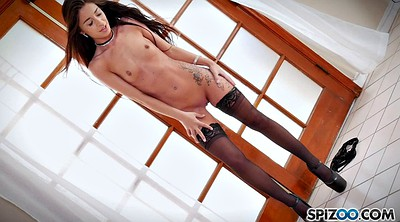 Stockings, Slim, Tube, Stockings solo, Tubes, Fingers solo hd