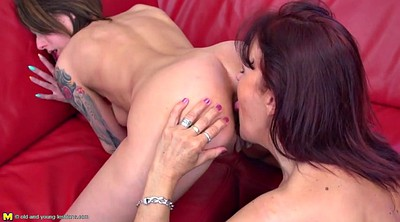 Lesbian seduce, Seduce, Old and young lesbians, Old and young lesbian, Old mature