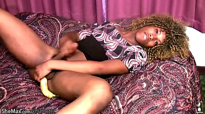 Ebony squirt, Banana, Shemale pantyhose, Pantyhose sex, Squirt big cock, Blacked squirting