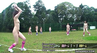 Japanese lesbian, Group, Nudes, Soccer, Japanese girls, Play