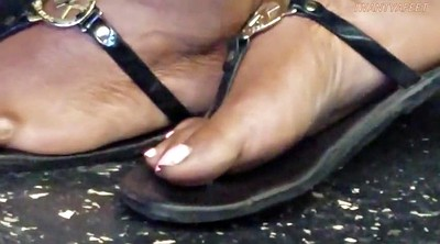 Foot fetish, Ebony feet, Candid, Candid feet
