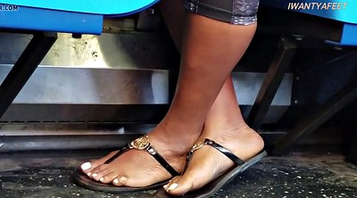 Bus, Foot fetish, Candid