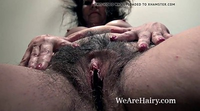 Hairy mature, Naked