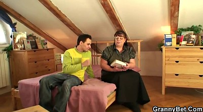 Old granny, Milf and boy, Mature and young