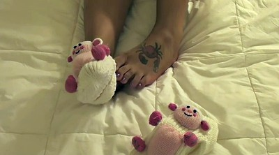 Sock, Strip, Sole, Foot tease