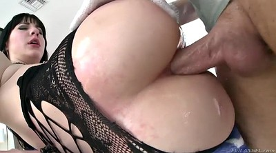 Pantyhose anal, Oil anal, Closeup, Big ass gape