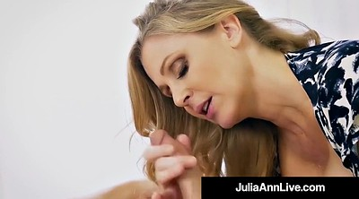 Julia ann, Mother son, Step mother, Step son, Mature blowjob, Son mother
