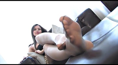 Nylon feet, Foot tease