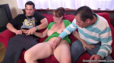 Mature anal, Mature threesome, Granny double