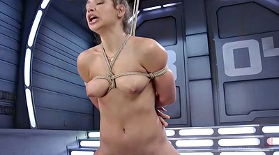 Machine, Sybian, Hairy solo, Fucking machine, Tied up