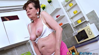 Mature solo, Granny solo, Toy, Hairy pussy