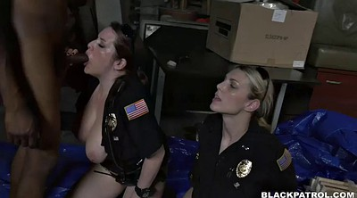 Interracial bdsm, Uniform, Black face sitting, Office threesome, Office femdom, Missionary