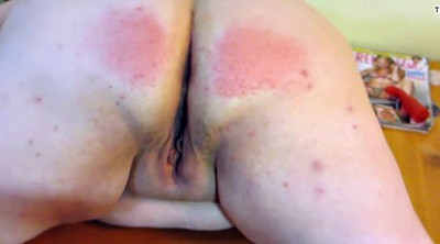 Plump, Pale, Wife spanking, Wife ass, Spanking wife, Skin