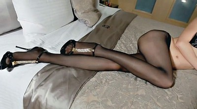 Asian, Asian foot, Nylon foot fetish, Nylon foot, Nylons, Asian nylon
