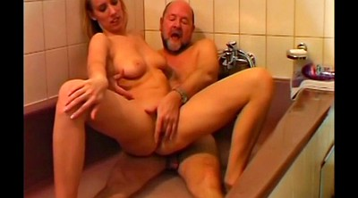 Dad, Bathroom, Grandfather, Shower sex, Old dad, Cut