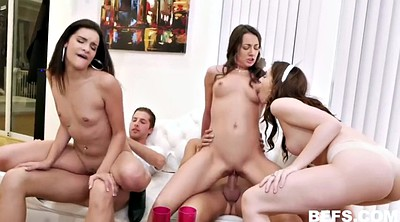 Three, Happy, Group sex orgy