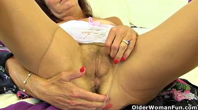 Nylon milf, Nylon mature, British granny