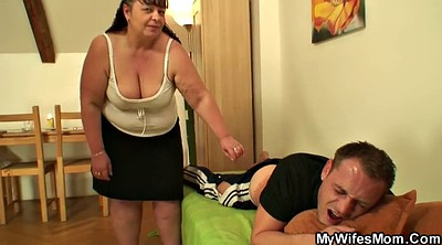 Mother, Girlfriend, Young tits, Big tit granny
