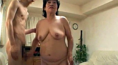 Bathing, Asian granny