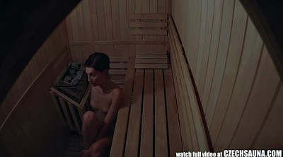 Sauna, Public masturbation, Girls