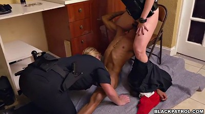 Bdsm, Uniform, Burglar, Interracial threesome, Blonde bbc