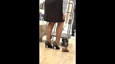 Shop, Pantyhose feet, Mature pantyhose, Mature feet, Sexy leg, Shopping