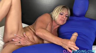 Mature handjob, Costume