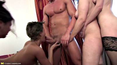 Mature gangbang, Mature group, Private