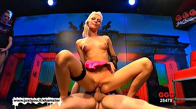 German gangbang, German blonde