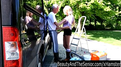 Granny outdoor, Lucky b, Blonde granny, Goddess