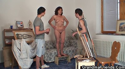 Old and young, Wife threesome, Mature threesome